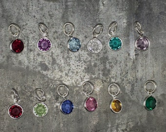 kraftykash swarovski silver plated birthstones for your one word or map necklace jewelry