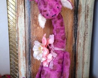 St. Valentine Day SALE 16 inch Artist Handmade Plush Teddy Peony by Sasha Pokrass