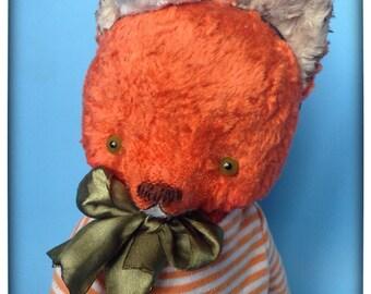 11 inch Artist Handmade OOAK Plush Teddy Fox Sailor Silvester by Sasha Pokrass