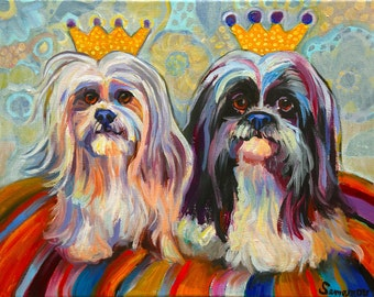 Shih Tzu / Lhasa Apso Fluffy Luxury Print by Gena Semenov / Limited Edition Print