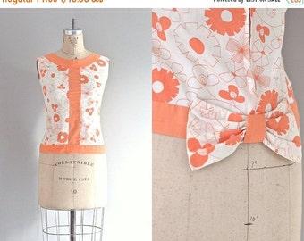 vintage 1950s summer blouse • floral blouse • vintage 1950s blouse
