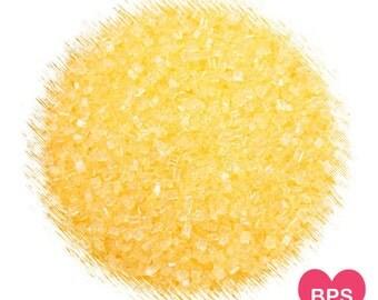 Yellow Sparkling Sugar, Yellow Sprinkles, Yellow Wedding Sprinkles, Yellow Coarse Sugar, Cookie Sugar, Cupcake Sprinkles, Edible Sprinkles