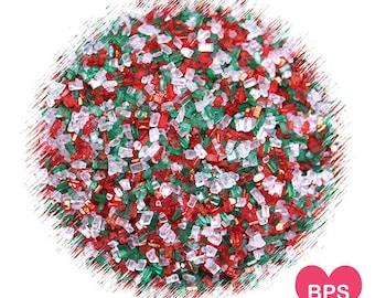 Christmas Sparkling Sugar Sprinkles, Christmas Cookie Sprinkles, Coarse Sugar Sprinkles, Holiday Sugar Sprinkles, Christmas Sprinkles