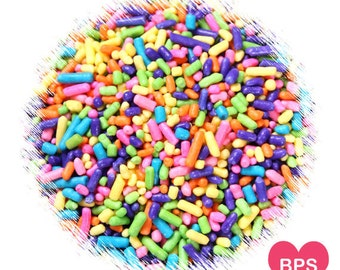 Girls Rainbow Jimmies Sprinkles, Rainbow Sprinkles, Confetti Cake Sprinkles, Ice Cream Sprinkles, Fairy Bread Sprinkles, Rainbow Party