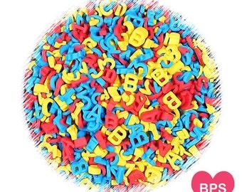 Back to School Sprinkles, Alphabet Sprinkles, ABC and 123 Sprinkles, Birthday Sprinkles, Letter Sprinkles, Number Sprinkles, Kids Sprinkles