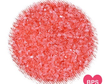 Coral Sparkling Sugar, Blush Pink Sparkling Sugar, Coarse Coral Cookie Sugar, Coral Cupcake Sprinkles, Coral Party Sprinkles