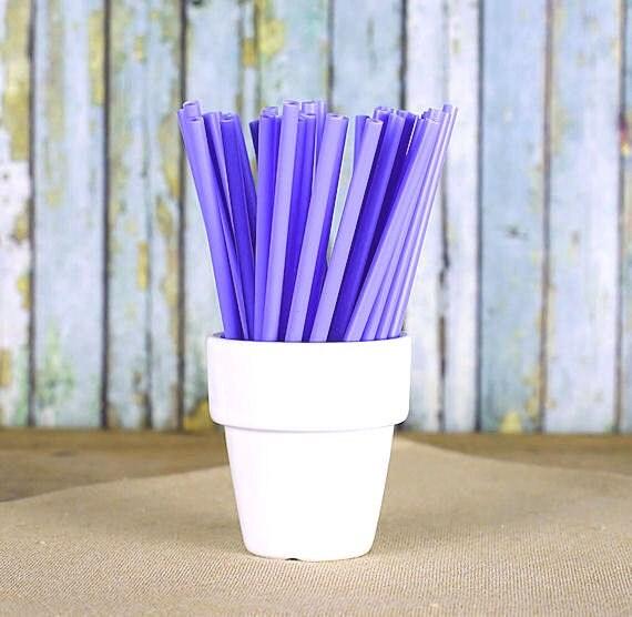 "Light Purple Lollipop Sticks, Small Light Purple Cake Pop Sticks, Sucker Sticks, Frozen Pop Sticks, Plastic Lollipop Sticks (4.5"" - 50ct)"