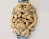 Happy Hoppies.  Bone Frogs n Harmony Pendant