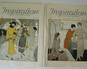 1922 2 Early Art Deco Inspiration Domestic Art & Science Magazine Fashion Food Antique Flapper