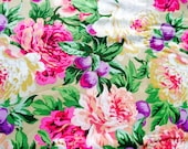 Luscious Philip Jacobs, natural, OOP, vhtf, by the half yard, cabbage rose fabric, Kaffe collective, early Westminster