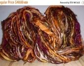 Fall Sale - Handspun Wool Yarn - Harvest - 60 Yards