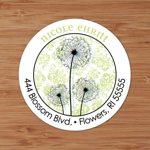 Dandy Dandelion - Custom Address Labels or Stickers