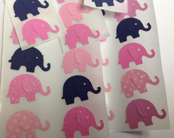 50 pc Paper Elephant Stickers  New Baby   Baby Shower  Cards