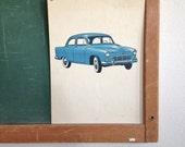 Vintage School Flashcard- Car