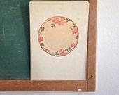 Vintage School Flashcard- Plate