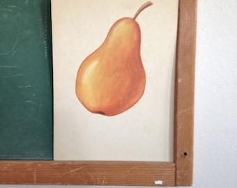 Vintage School Flashcard- Pear
