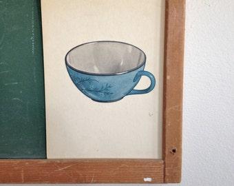 Vintage School Flashcard- Tea Cup