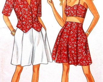 Jacket and Shorts Sewing Pattern UNCUT New Look 6721 Sizes 6-16