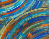 """Original Art from the Veteran Artist Abstract Painting by Bryan Dubreuiel Original Painting 36""""h by 24""""w Acrylic on Canvas"""