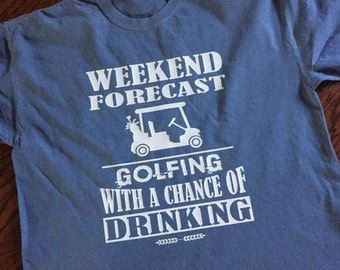 Golf weekend forecast comfort color shirt