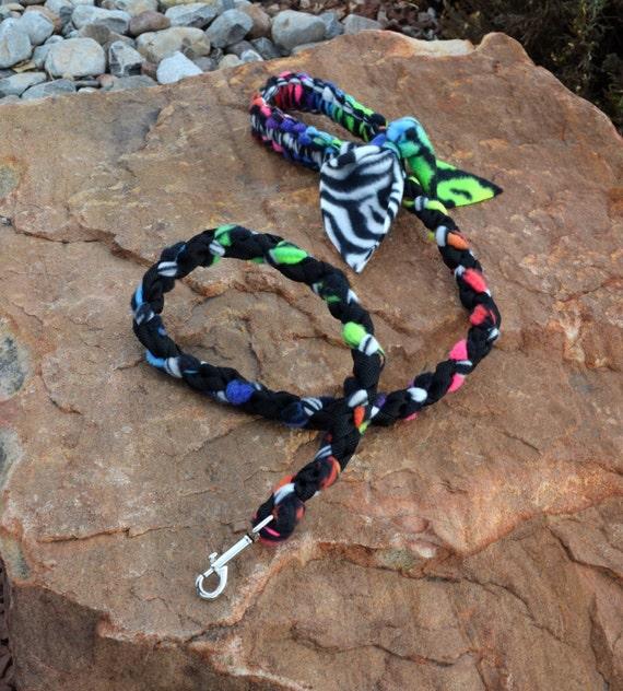 Dog Tug Toy Agility: Braided Fleece Dog Leash Agility Tug Leash Colorful Dog