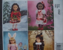 Holiday American Girl Doll Costumes--UNCUT  Patterns --  40-70% off Patterns n Books SALE
