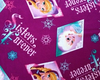 Gorgeous Sisters Forever Fabric  from Movie FROZEN-- 40-70% off Patterns n Books SALE --Special Pricing