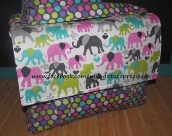 DIAPER BAG,  Elephant Diaper Bag, Crossbody bag, Baby Gift, Washable Diaper Bag, Large Diaper Bag, Baby Girl, Ready to Ship