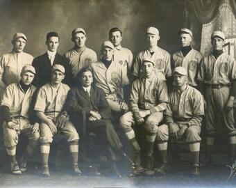 1913 College BASEBALL TEAM OA Oregon signed photograph