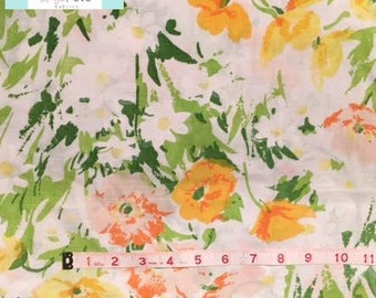 Vintage Yellow/Orange Floral Pillowcase