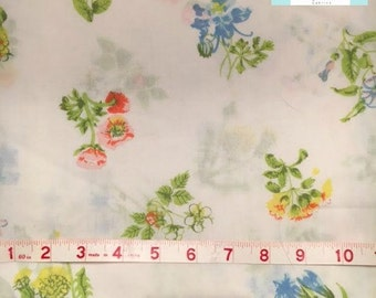 Full Vintage Flat Sheet with Colorful Floral