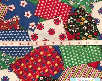 LAST 3/4 YARD, Vintage Patchwork Fabric