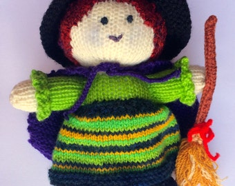 Witch doll - knitted