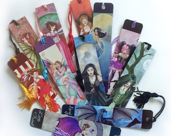 Bookmarks set, Set of 3, Fantasy Bookmarks, Fairy Art, Bookmarks, Fantasy Art, Bookmarks for Books, Dragon Bookmark, Fairy Bookmarks