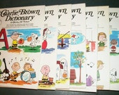 Peanuts Charlie Brown's Children's Dictionary Complete 6 Hardcover Volumes 1973