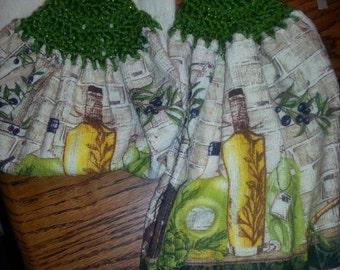 Crochet top kitchen towel