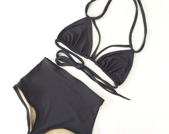Strappy High waist swimsuit MORE COLORS