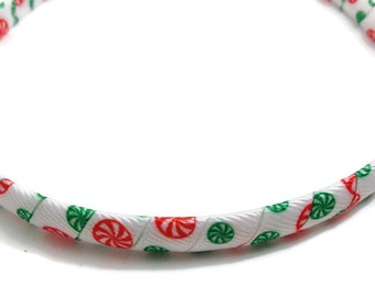 Christmas Peppermint Candy Headband -Handmade To Order