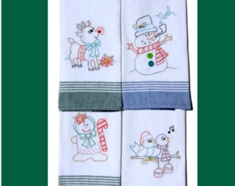 A Christmas Sampler PDF Embroidery Pattern by Cleo and Me