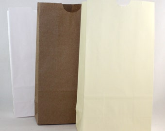 Small Paper Bags, Ivory Paper Bags, Brown Paper Bags, White Paper Bags, Wedding Favor Bags, Treat Bags, Candy Bags, Party Favors