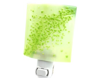 Night Light, Light Green Art Glass, Home Decoration