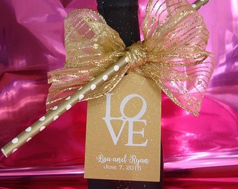 Champagne Bottle LOVE Tags