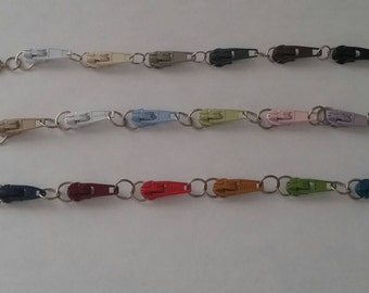 Vintage Zipper Bracelets-Pick a Color