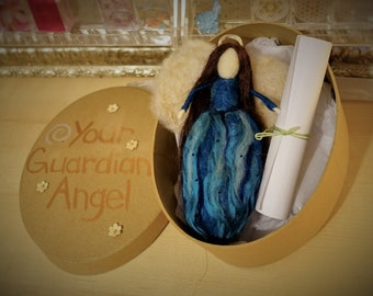 Personalized Guardian Angel - artistic representation of your guardian angel with actual message from your angel