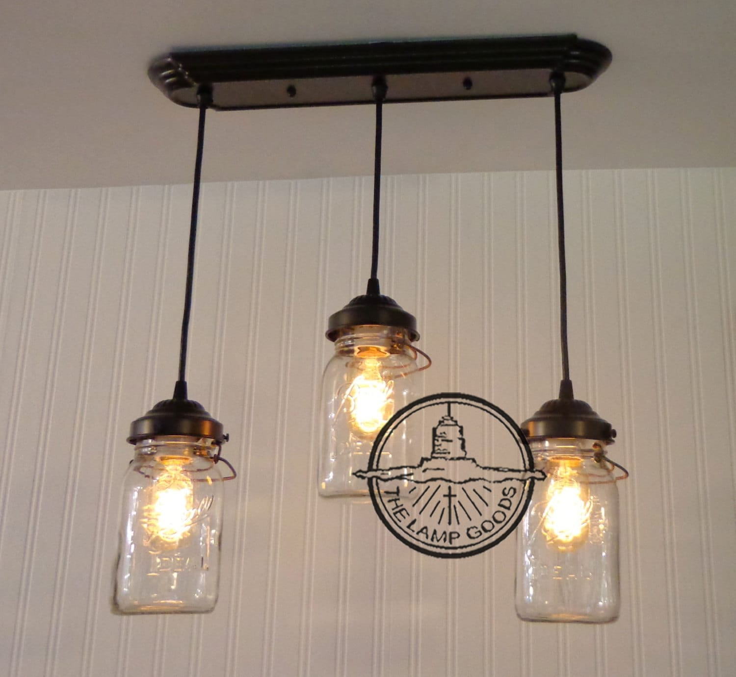 Edison Bulb Chandelier Mason Jar Lighting Mason By: Mason Jar CHANDELIER Light Rectangular With Vintage By