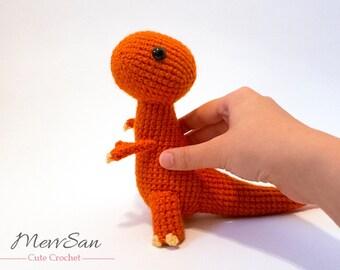 MADE to ORDER - Amigurumi Tyrannosaurus Rex Dinosaur - t rex amigurumi dinosaur plush, crochet dinosaur softie, amigurumi dinosaur toy