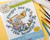PRINT VERSION Garden Blessings Coloring Book with Bible Journaling Bookmarks and Verses Christian Scripture Art for Children and Adult