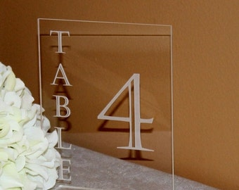 ON SALE Acrylic Table Numbers for Wedding Reception 1-99