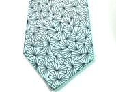 Blue and Navy Necktie Wedding Neckties Mens Neckties Custom Neckties Aqua Necktie