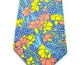 Blue Floral Neckties Floral Neckties Custom Neckties Blue Neckties Blue and Floral Neckties